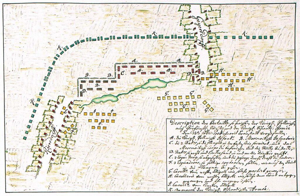 Slagordning vid Fraustadt den 3 februari 1706